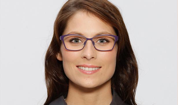 Strahlende Augen: Diese Brille passt optimal zum Modell