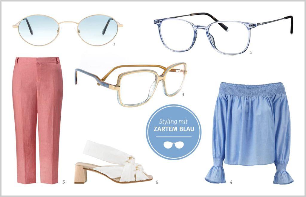 Brillen in Pastell Blau