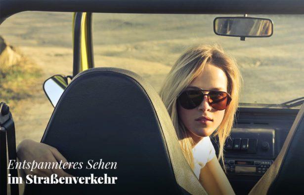 Polarisierende Sonnenbrillen beim Autofahren