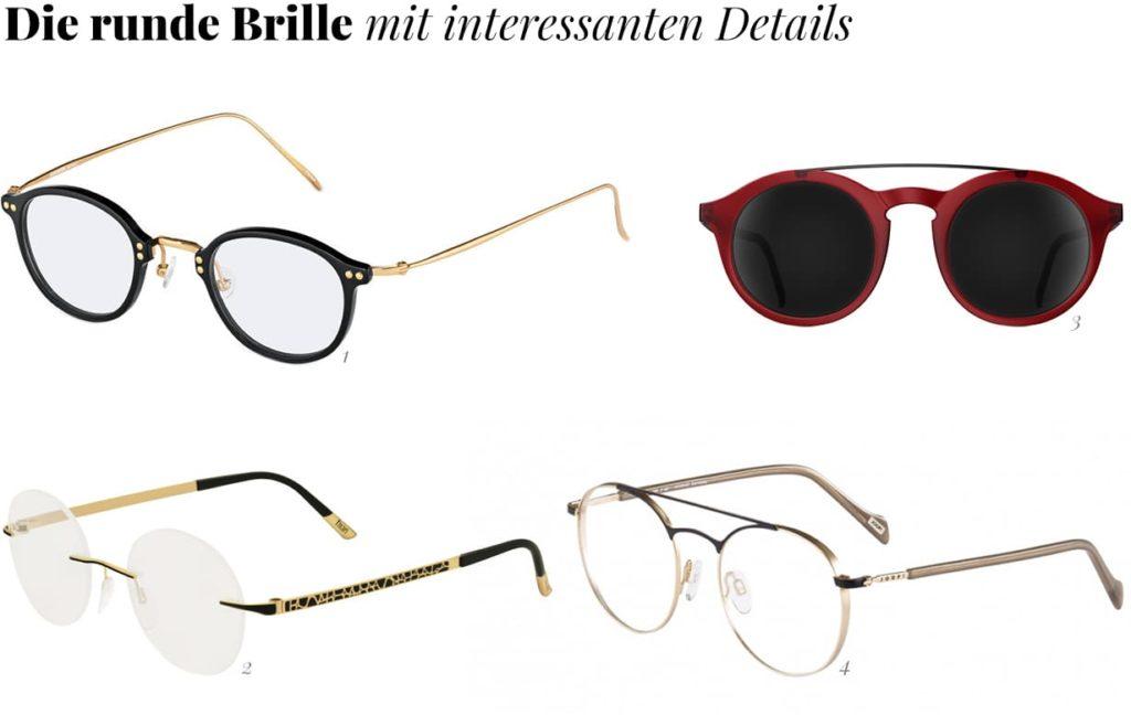 Runde Brillen mit schönen Details