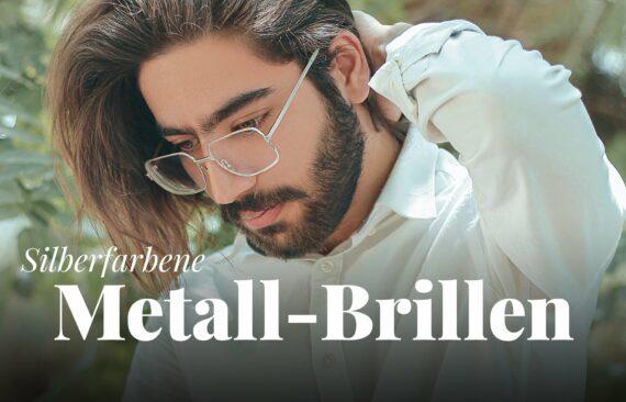 Metallbrillen in silber