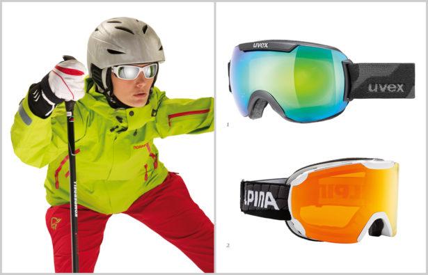 Farbtöne von Skibrillengläser