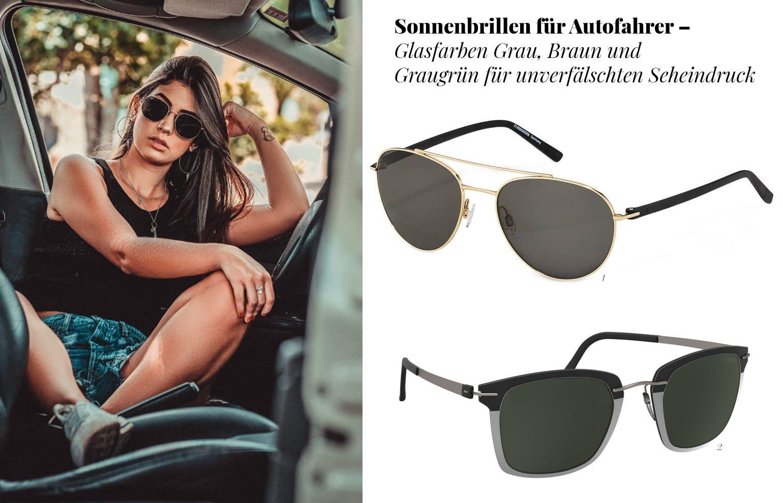 Glasfarben für Sonnenbrillen zum Autofahren