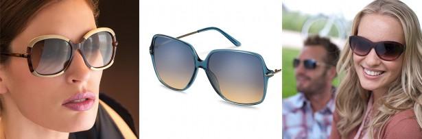 Sonnenbrillentrends 2014: Foto von Models mit XXL-Sonnenbrillen