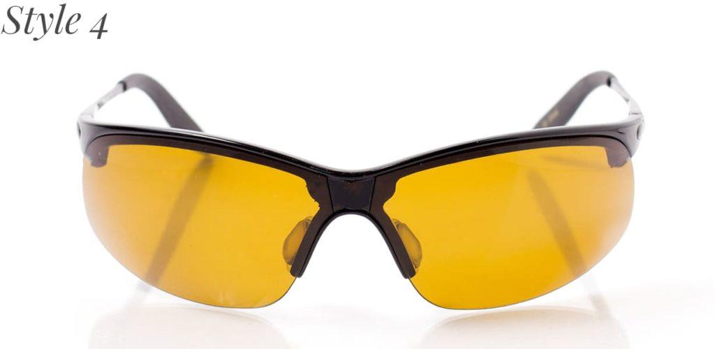 Sportbrille mit gelben Gläsern