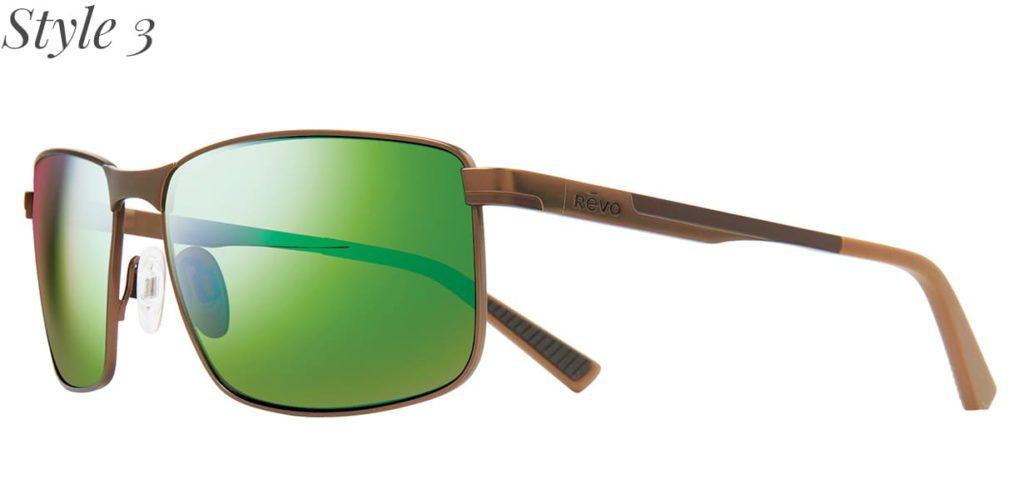 Sportbrille mit grünen Gläsern