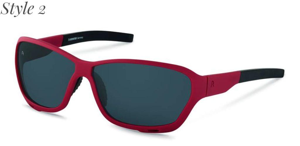 Sportbrille mit grauen Gläsern