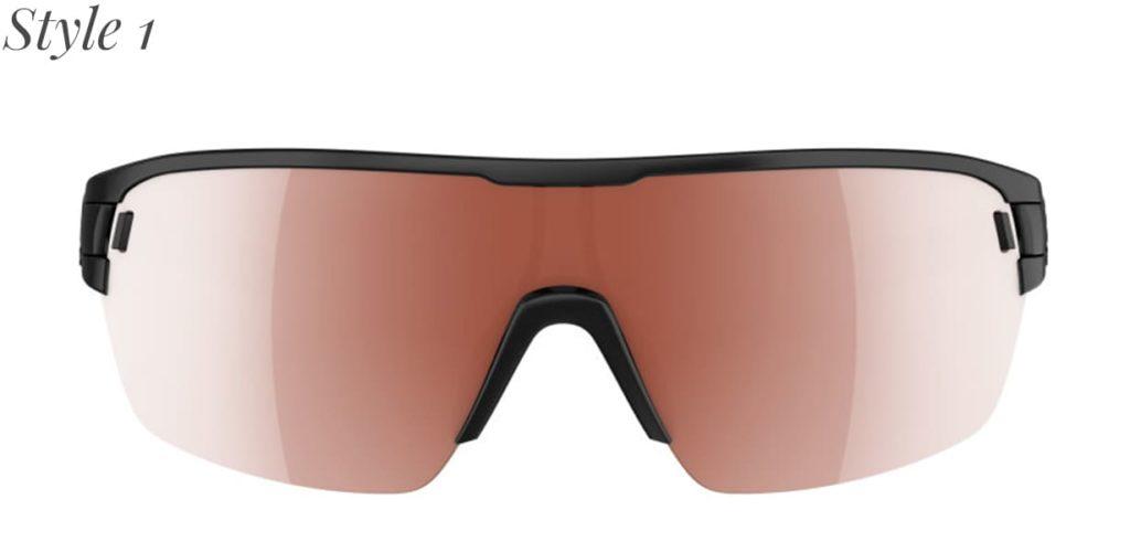 Sportbrille mit braunen Gläsern