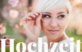 Stilvolle Hochzeit mit Brille