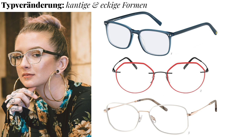 Typveränderung eckige Brille