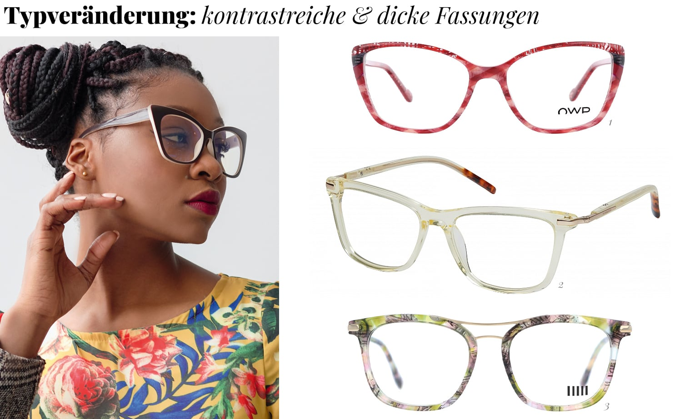 Typveränderung kontrastreiche Brillen