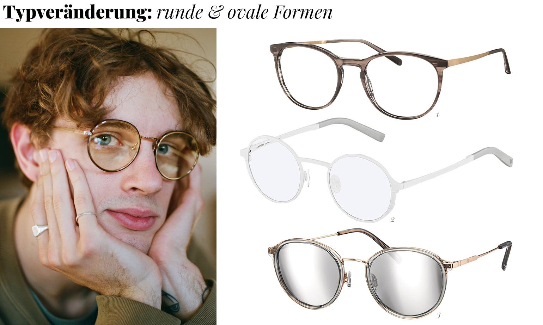 Typeränderung runde Brille